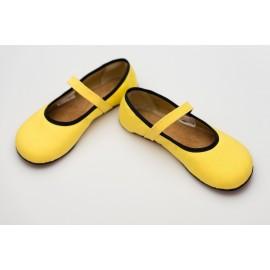 Ahinsa Shoes Ananda - Balerínka žlutá Sunbrella