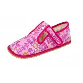 Beda Barefoot bačkory - růžové znaky