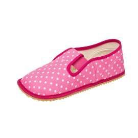 Beda Barefoot bačkory - růžová puntíky
