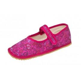 Beda Barefoot baleríny - růžová srdíčka