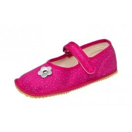 Beda Barefoot baleríny - růžová třpytka