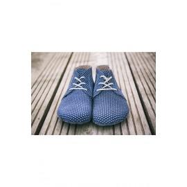 Lenka celoroční barefoot - Dark Blue Dots