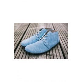 Lenka celoroční barefoot - Light Blue Dots