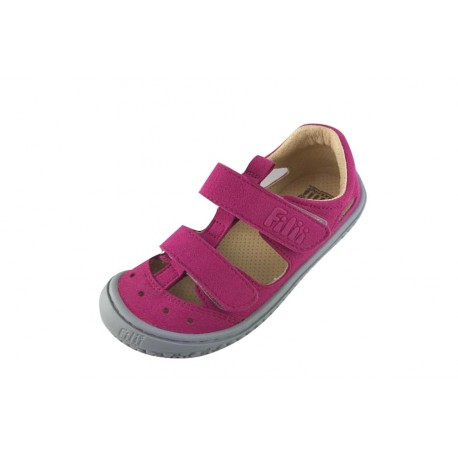 Filii Barefoot KAIMAN vegan velcro textile pink M
