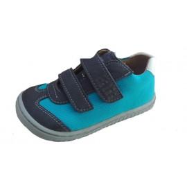 Filii barefoot LEGUAN velcro velours/textile ocean/turquois W