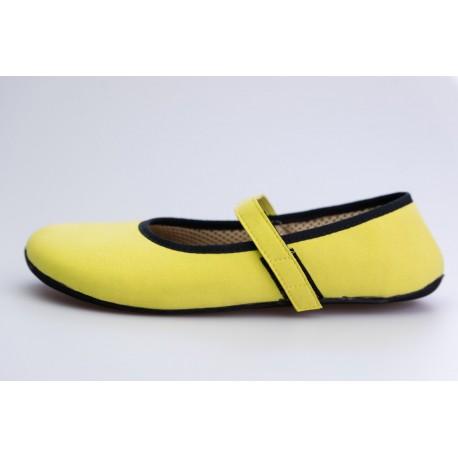 Ahinsa Shoes Ananda Bare - Balerínka Žlutá Semišová