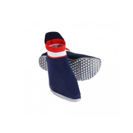 Leguano Sneaker modré, červeno - bílý pruh