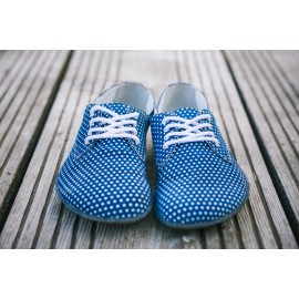 Barefoot Lenka City- Blue with White Dots