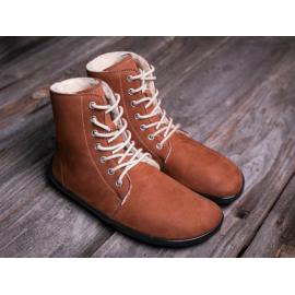 Be Lenka barefoot kotníkové Winter - Cognac