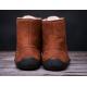 BeLenka barefoot kotníkové Winter - Cognac
