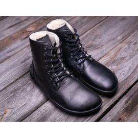 Be Lenka barefoot kotníkové Winter - Black