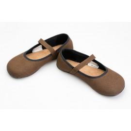 Ahinsa Shoes Ananda - Balerínka hnědá