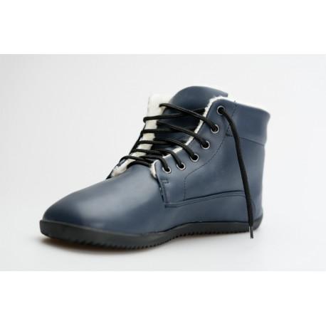 Ahinsa Shoes Sundara - zimní kotníčková modrá LIFO+