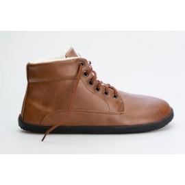 Ahinsa Shoes Sundara - Winter ANKLE světle hnědá