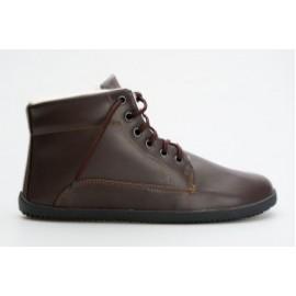 Ahinsa Shoes Sundara - Winter ANKLE tmavě hnědá
