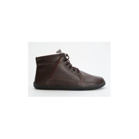 Ahinsa Shoes Sundara - zimní kotníčková hnědá LIFO+